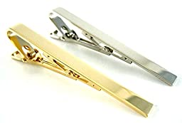 Gold and Silver Tone Formal Tie Bar Set