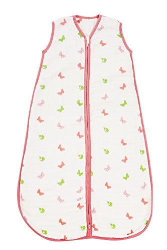 Baby Muslin Sleeping Bag approx. 2.0 Tog - Butterfly - various sizes - 1