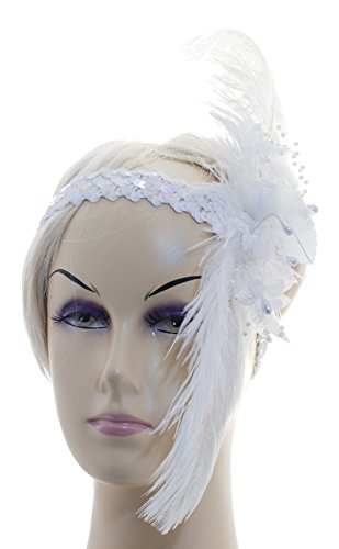 Linda-Anns-White-Flapper-Girl-Feather-Flowersequin-Headband