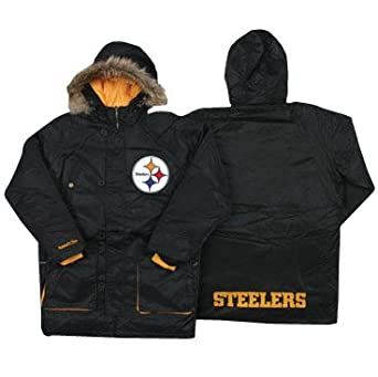 Pittsburgh Steelers Mitchell & Ness Snorkel Parka by Mitchell & Ness