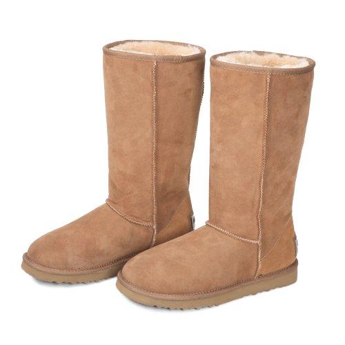 Women's Classic Sheepskin Tall Snow Boots V5815
