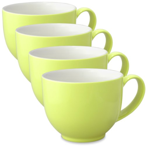 Forlife Q Tea Cup With Handle 10 Ounces (Set Of 4) - Lime