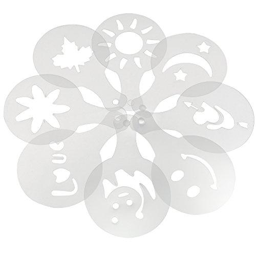 trixes-lot-de-16-outils-a-motifs-differents-pochoirs-pour-cafe-decoration-de-gateaux-pour-barman