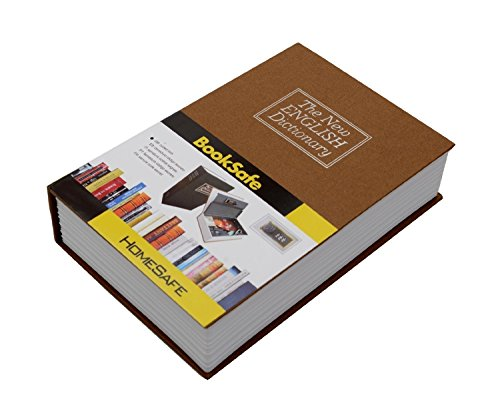 Woogor Large Dictionary Multi Design Book Safe Cash Box Metal with 2 Keys Lock Tijori (Random Color & Design)