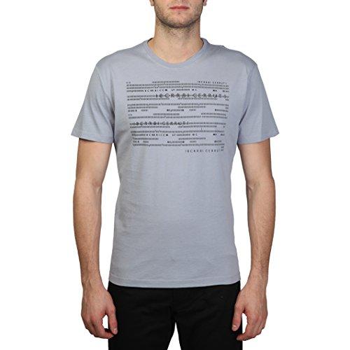 Cerruti 1881 - T-Shirt 100% cotone maniche corte fantasia a righe - Uomo (S) (Grigio)