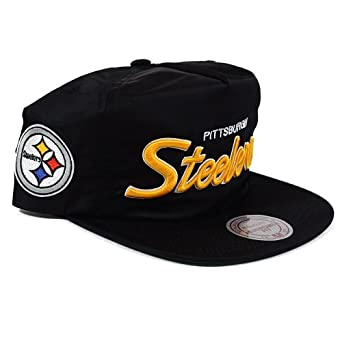Pittsburgh Steelers Mitchell & Ness Special Script Black Zipback Hat by Mitchell & Ness