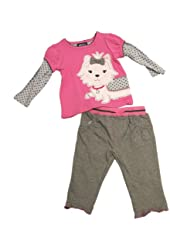 Mini Bean Baby Girls' Kitty Pant Set