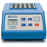 "Hanna Instruments HI839800-01 COD Test Tube Heater, 25 Vial Capacity, 115V, +/-2 Degree C Accuracy, 7-1/2"" Length x 11-51/64"" Width x 3-11/16"" Height"