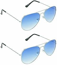 Redix New 2 in 1 combo TraditionaL Sunglasses (Blue Blue)