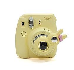 [Fujifilm Instax Mini 8 Selfie Lens] -- Lalonovo Rabbit Style Instax Close Up Lens with Self-portrait Mirror for Fujifilm Instax Mini 8 Instant Film Camera (Yellow)