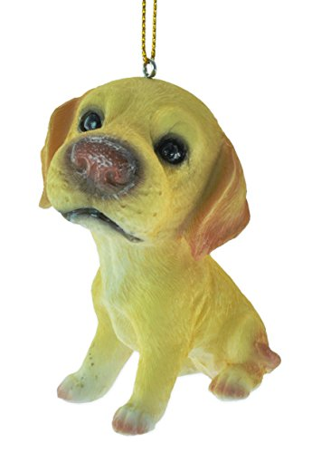 Big Head Yellow Lab Puppy Tree Ornament