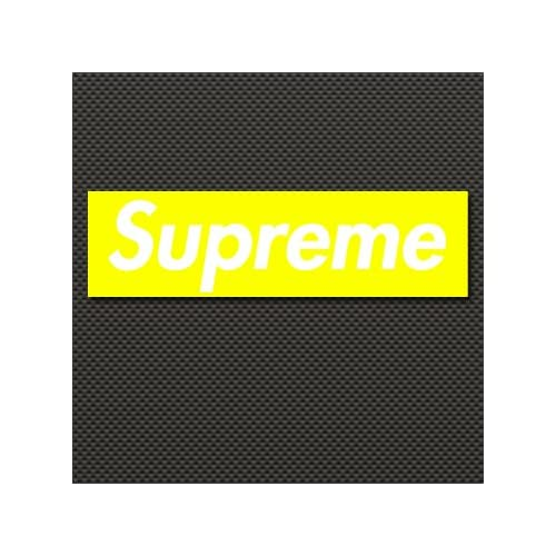 "Amazon.com : Yellow Supreme Box Logo Vinyl Gloss Stickers 2.2"" X 8"