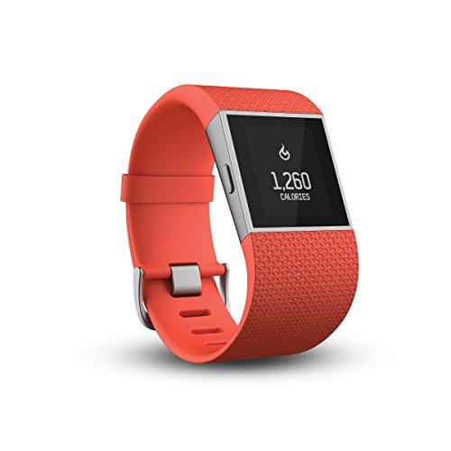 Fitbit Surge Braccialetto Wireless con touchscreen e GPS, Monitoraggio Sonno e Attività fisica, Taglia L, Mandarino