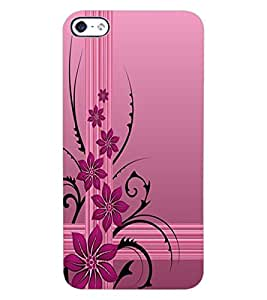 ColourCraft Beautiful Flower Design Back Case Cover for APPLE IPHONE 4S