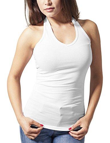 Urban Classics Ladies Neckholder Shirt, Tank Top Donna, Weiß (White 220), 46