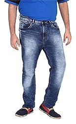 Xmex Men's Denim Jeans (Jd-6000Blue-50, Dark Blue, 50)