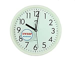 buy white quartz wall clock w quiet sweep second hand online at low prices in india. Black Bedroom Furniture Sets. Home Design Ideas
