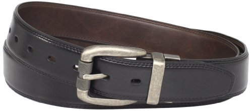 Levi's Men's Big & Tall Feathered Reversible Belt, Black/Brown, 54 (Extended Size)