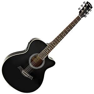 single cutaway electro acoustic guitar black musical instruments. Black Bedroom Furniture Sets. Home Design Ideas
