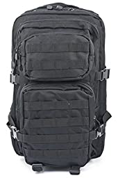 Mil-Tec Military Army Patrol Molle Assault Pack Tactical Combat Rucksack Backpack Bag 20L Black