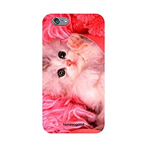 HomeSoGood Beautiful Girly Kitten Pink 3D Mobile Case For iPhone 6 (Back Cover)