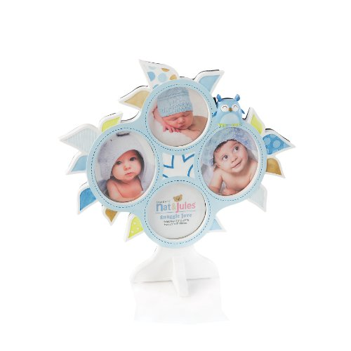 Nat and Jules Collage Frame, Blue Ollie Owl