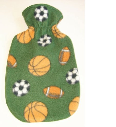 Fashy Sports Nut Fleece Covered Hot Water Bottle - Made in Germany