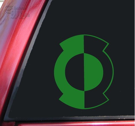 Front View Green Lantern Chrome Auto Emblem