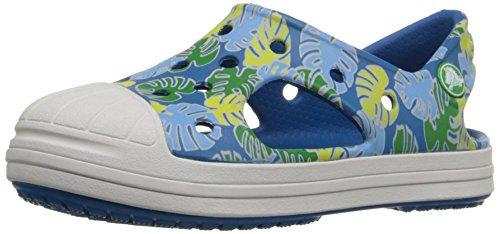 crocs Bump It Tropical Sandal (Toddler/Little Kid), Grass Green/Oyster, 9 M US Toddler