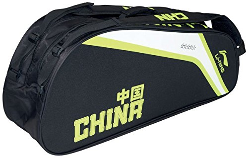 li-ning-pro-badminton-sports-team-kit-holdall-9-racket-thermo-bag-black-green