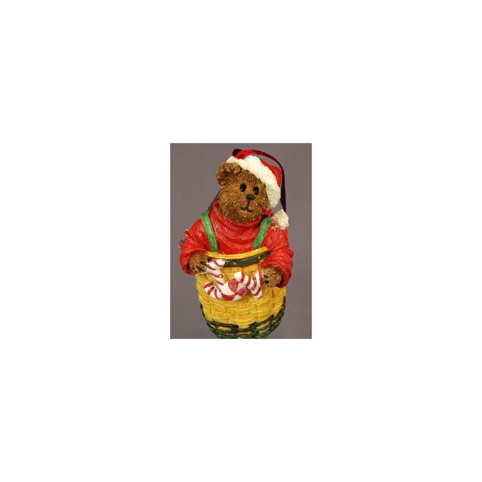 Boyds Bears & Friends Longaberger Peppermint Elfbeary 2003 Christmas Ornament