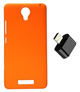 Toppings Hard Case Cover With Micro USB OTG Adapter For Xiaomi Redmi Note 2 - Orange