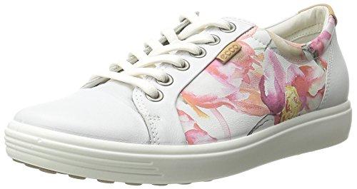 ECCO Soft 7 Ladies Scarpe da Ginnastica Basse, Donna, Bianco(White Floral Print/White/Powder 59768), 37