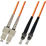 75M Multimode Duplex Fiber Optic Cable (62.5/125) - SC to ST