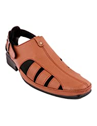 Tycoon Men Tan Leather Sandals