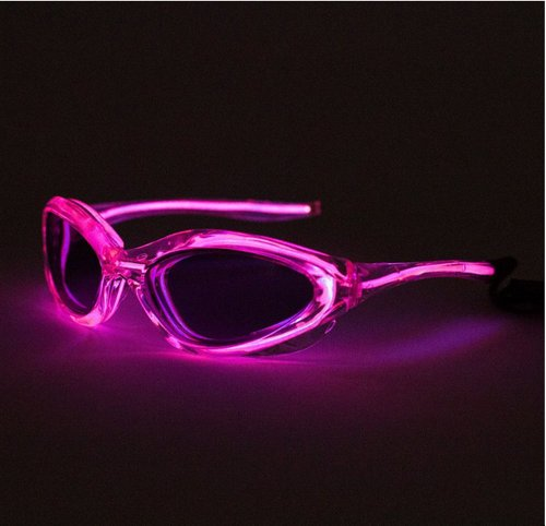 Siga® Pink Led Flash Light Up El Wire Sunglasses As Seen On The Today Show,2*Aa Battery Powered(Not Includes)
