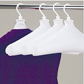 Inflatable Travel Laundry Hangers Drip Dry Clothes Set Of 4 (04500) by Whitney Design