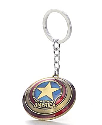 REINDEAR The Avengers Marvel Movie Comics Captain America Shied Metal Key Chain US Seller