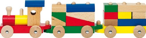 "Wooden Rom Train with Bricks 16.5"" by Goki"