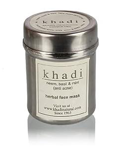 Khadi Neem, Basil and Mint Face Pack (Anti Acne), 50g