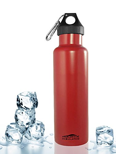 Red 21 Oz Double Wall Vacuum Insulated Thermal Bottle Personal Hydration Eco Friendly Sports Water Bottle Keeps Your Water Cold for 24 Hours and Hot for 12 Hours!!! Does Not Sweat! Perfect for Yoga, Soccer, Basketball, Fitness, Exercise, Football, Golf, Outdoor, Hiking, Rock Climbing Hunting, Fishing, Softball, Baseball Too! Maximum Chill Factor