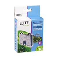 Elite Carbon Cartridge for Hush 10 Power Aquarium Filter, 2-Pack