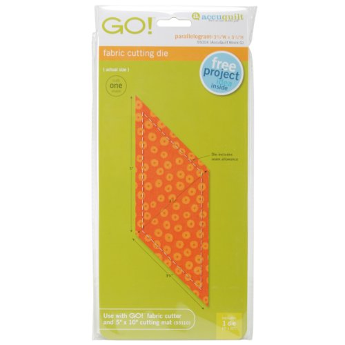 Accuquilt Go! Fabric Cutting Dies-Parallelogram 3-3/4-Inch-By-3-1/2-Inch