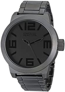 buy Kenneth Cole Reaction Men'S Rk3210 Classic Oversized Gunmetal-Tone Watch