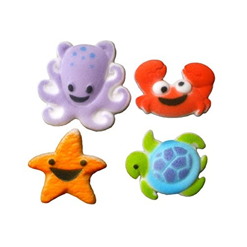 Oasis Supply Sugar Decorations, Sea Buddies, 12 Count