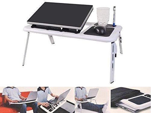 Foldable Laptop Table Tray Desk W/Cooling Fan Tablet Desk St