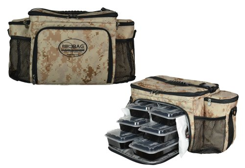 Isobag 6 Meal Management System/Digital Desert Full Camo Edition/Insulated Lunch Box/Bag - 1