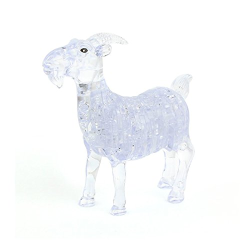 Coolplay DIY 3D Crystal Puzzle Assembly Goat Model (Clear) (Goat Display compare prices)