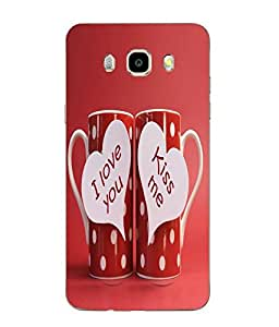 Snazzy Love & Kiss Printed Red Soft Back Cover For SAMSUNG Galaxy J5 - 6 (New 2016 Edition)