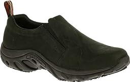 Merrell Men\'s Jungle Moc Pro Grip Nubuck Slip-Resistant Work Shoe, Black, 15 M US